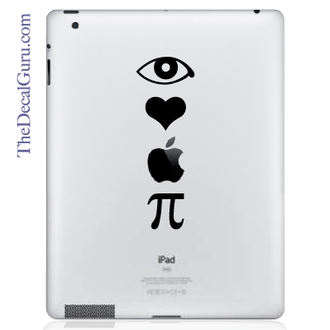 I love apple pie iPad decal