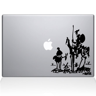 Don Quixote Macbook Decal Sticker Black