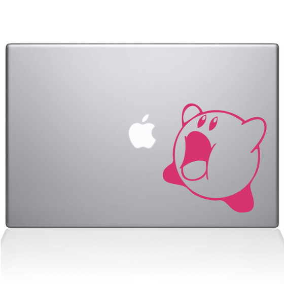 Kirby Macbook Decal Sticker Pink