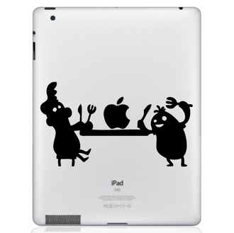 apple feast iPad decal