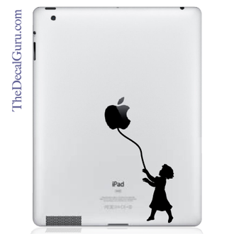 Balloon of Hope Girl iPad Decal