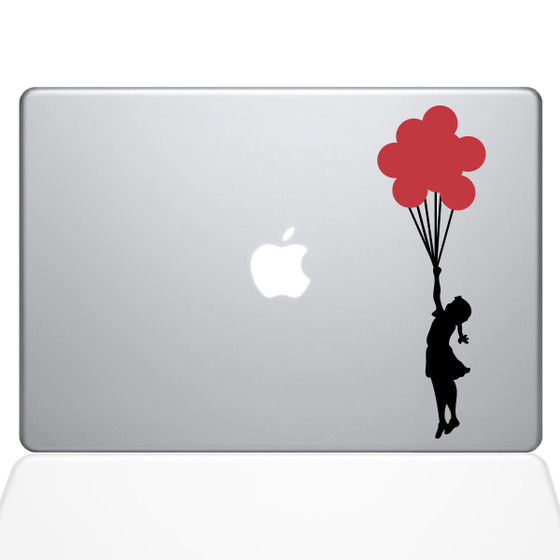 Banksy Balloons Girl Macbook Decal Sticker Silver