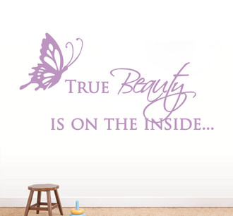 True Beauty Wall Decal