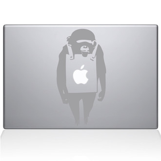 Banksy Monkey Macbook Decal Sticker Black