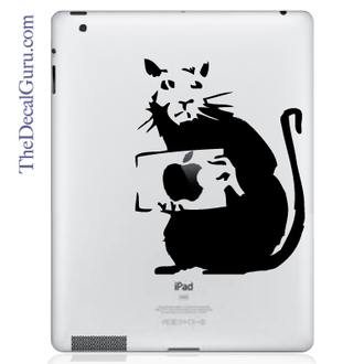 Banksy Rat iPad Decal