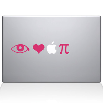 I Love Apple Pie Macbook Decal Sticker Black