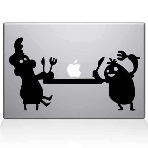 Apple Feast Macbook Decal Sticker Black