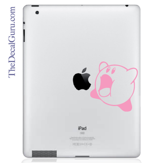 Kirby iPad Decal