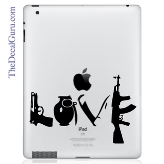 Love & War iPad Decal