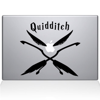Quidditch Macbook Decal Sticker Black