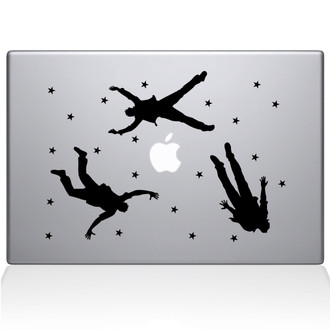 Falling Men Macbook Decal Sticker Black