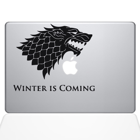 GOT House Stark Macbook Decal Sticker Black
