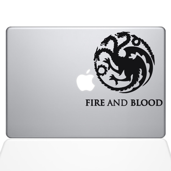 GOT House Targaryen Macbook Decal Sticker Black