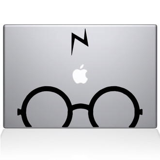 Harry Potter Glasses Macbook Decal Sticker Black