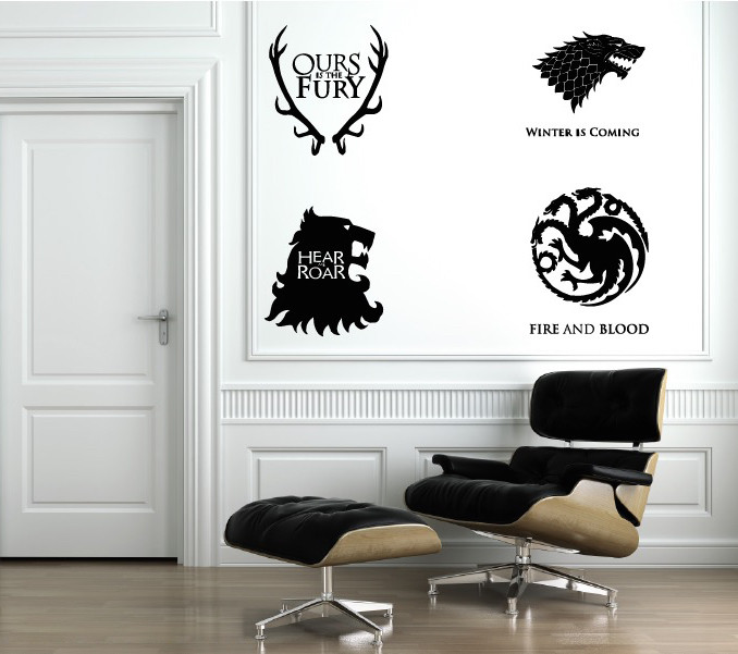 game of thrones 4 houses | wall decals | the decal guru