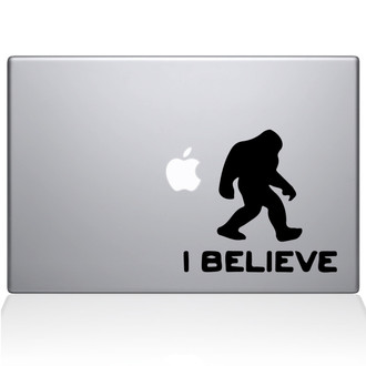 I Believe Bigfoot Macbook Decal Sticker Black