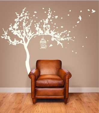 Blossom Tree and Birds Wall Decal
