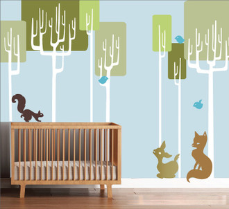 Tree Friends Forest Wall Decal