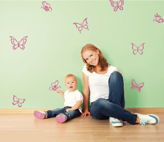 Butterfly Flutters Wall Decal