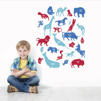 Alphabet Animals Wall Decal