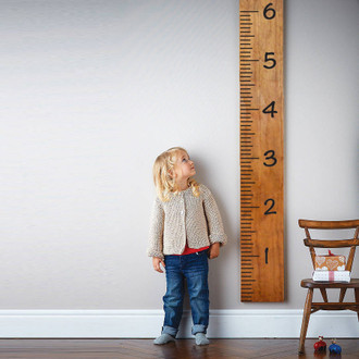 Giant growth chart ruler measurement