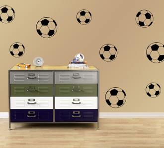 Soccer Balls Wall Decal