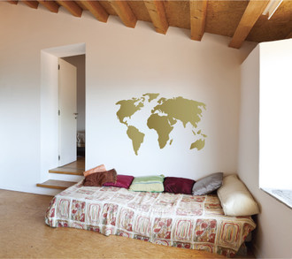 Urban wall decals decal guru world map wall decal gumiabroncs Image collections