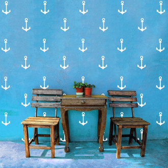 Anchors Pattern Wall Decal