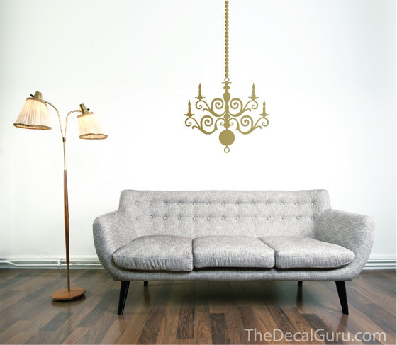 Home · Wall Decals; Chandelier Wall Decal. Image 1 & Chandelier | Wall Decals | The Decal Guru