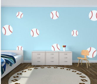 large baseball Wall Decal