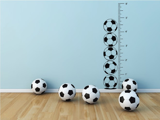 Soccer Growth Chart Wall Decal
