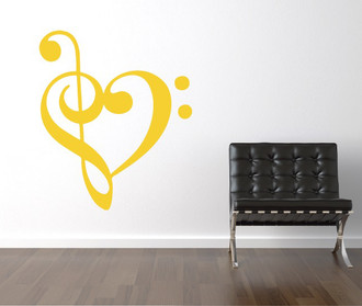 Music Heart Wall Decal