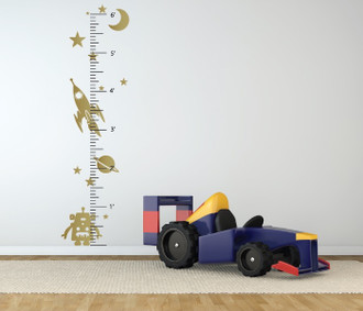 Space Robot Growth Chart Wall Decal