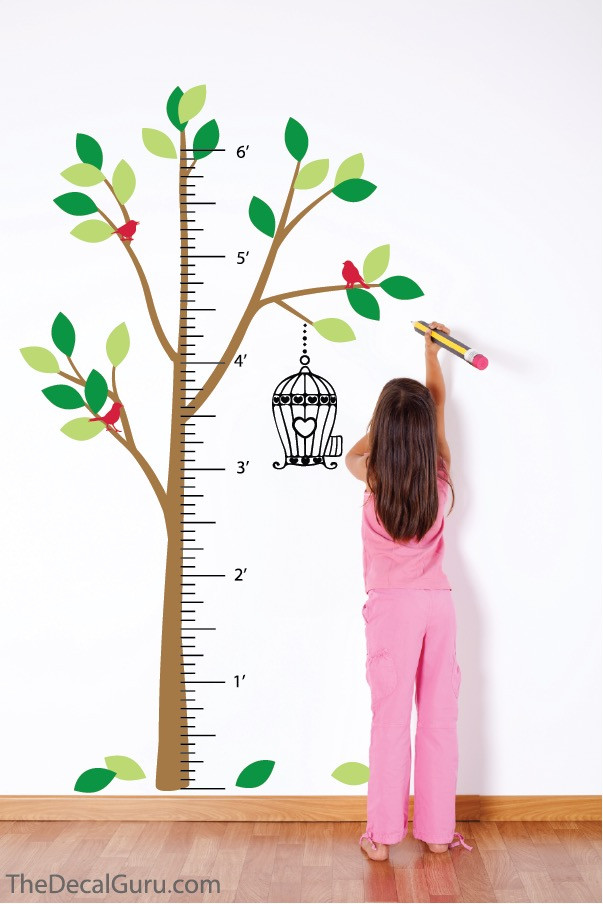 tree growth chart | wall decals | the decal guru