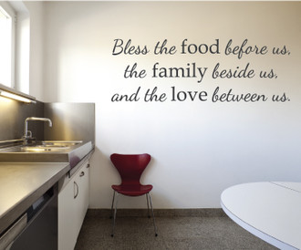 Food, Family, & Love Wall Decal