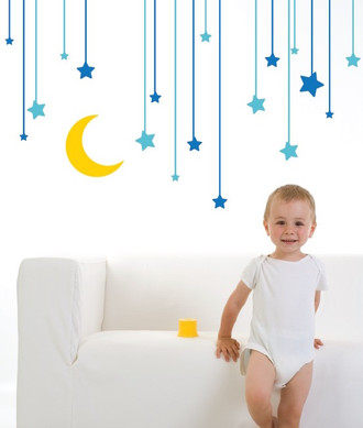 Hanging Stars Wall Decal