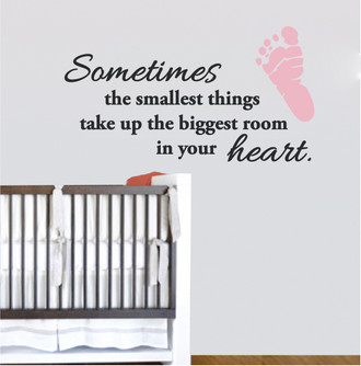 Baby Heart Quote Wall Decal
