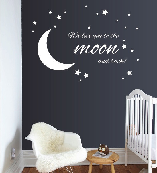 to the moon and back | wall decals | the decal guru