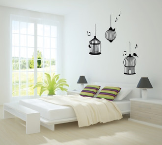 Song Bird Cages Wall Decal