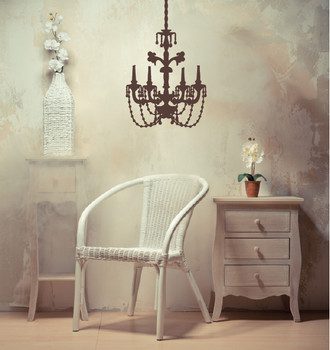 Baroque Chandelier Wall Decal