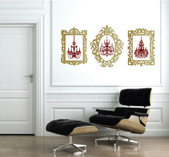 Chandelier Picture Frames Wall Decal