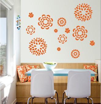 Flower Pattern Wall Decal