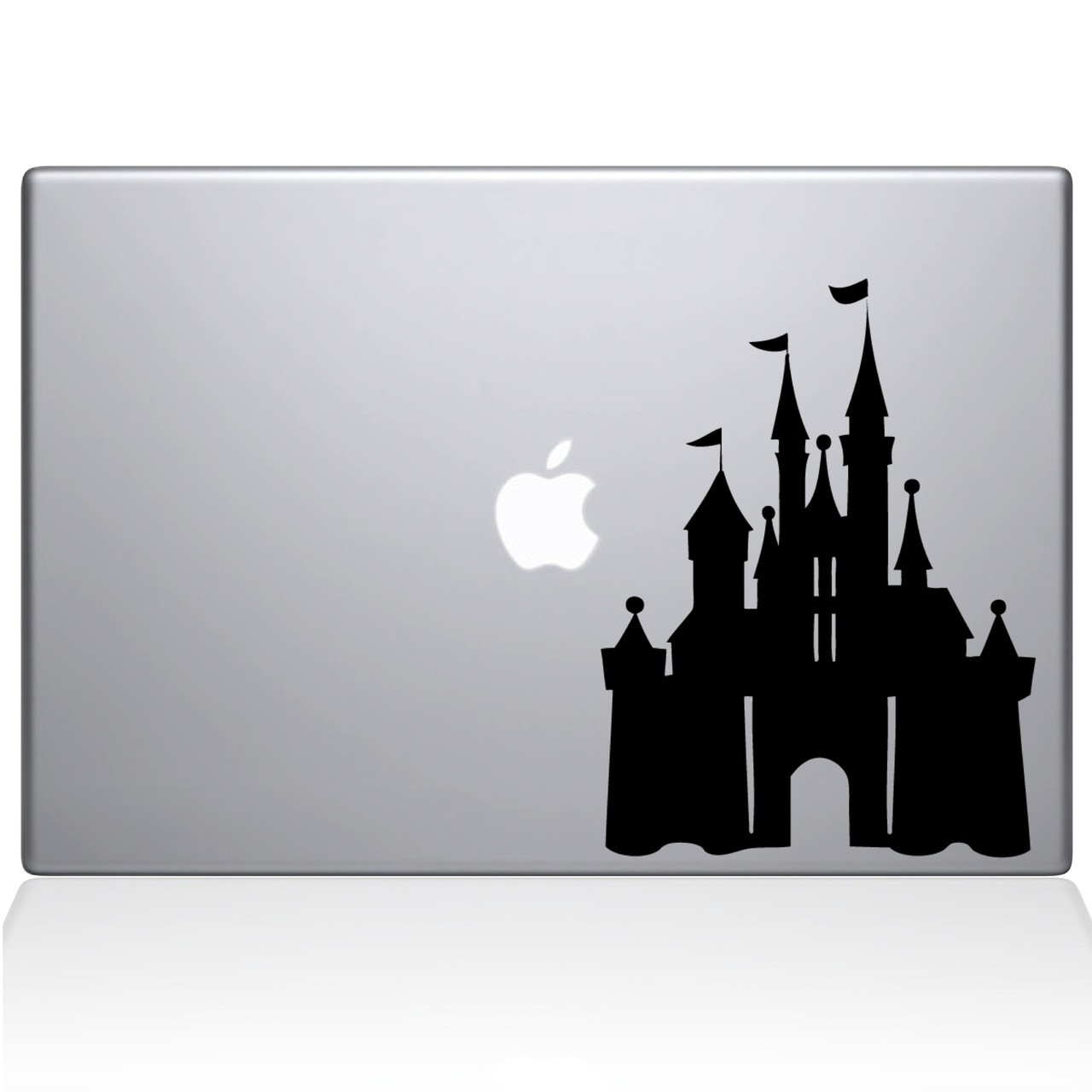 Disney castle macbook decal sticker black