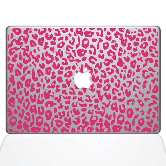 Leopard Spots Macbook Decal Sticker Pink