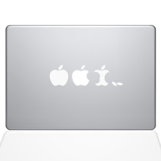 Edible Apple Macbook Decal Sticker White