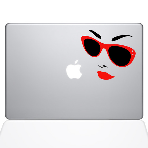 Miley Cyrus Macbook Decal Sticker Silver