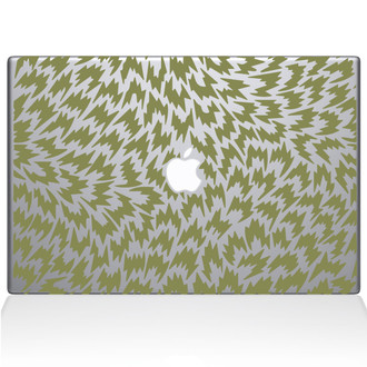 Houndstooth Pattern Macbook Decal Sticker Gold