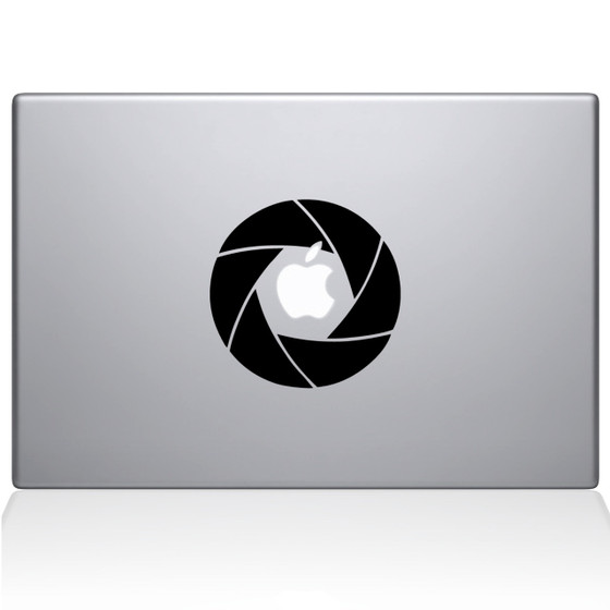 Camera Shutter Macbook Decal Sticker Black