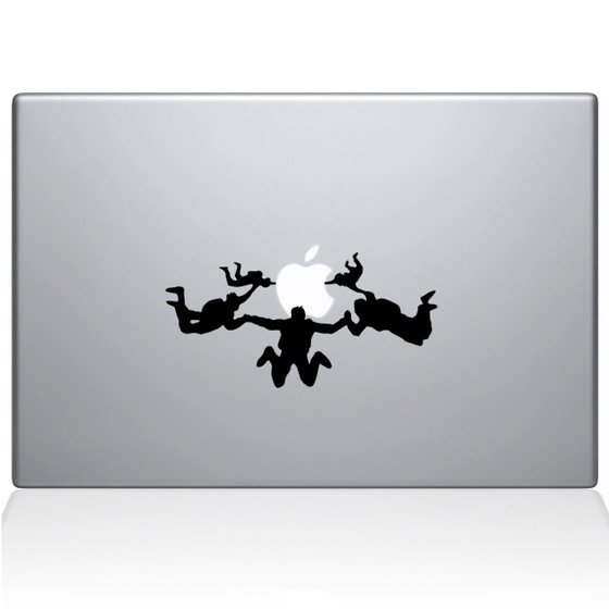 Sky Divers Macbook Decal Sticker Black