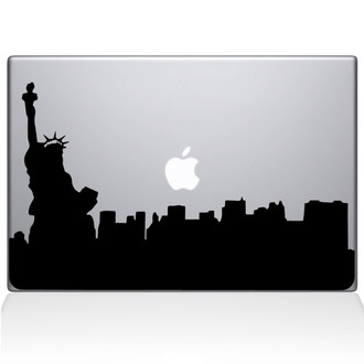 Statue of Liberty NEW YORK City Macbook Decal Sticker Black